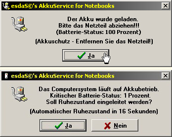 esdaS©'s AkkuService for Notebooks